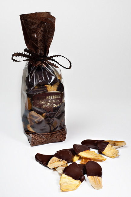 Chocolate Dipped Dried Tropical Fruit 8oz